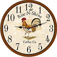 Country Rooster Decor Kitchen Clocks